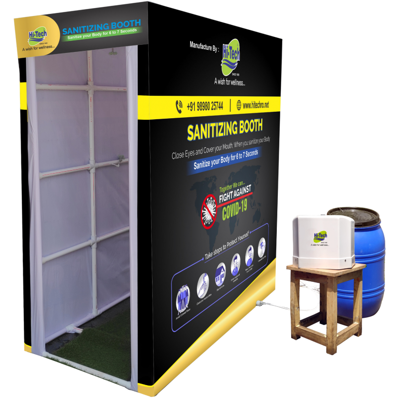 Sanitizing Booth switch-operated