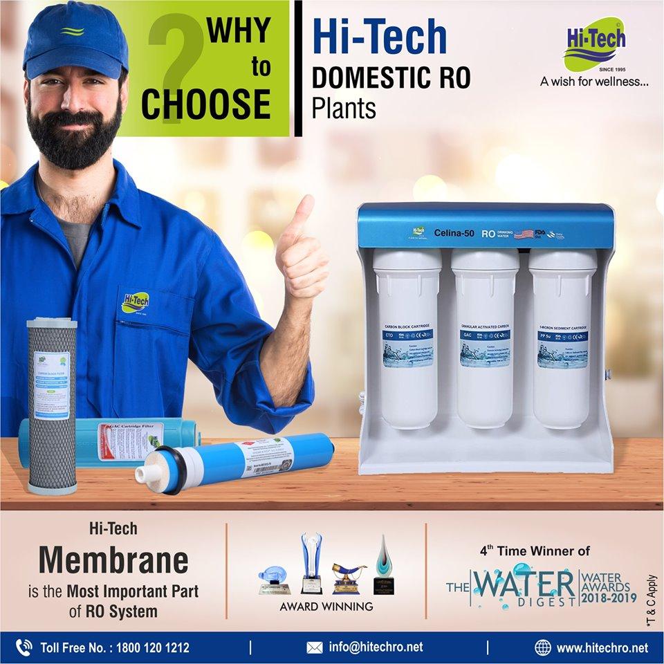 Why Choose Hi-Tech RO domestic plant