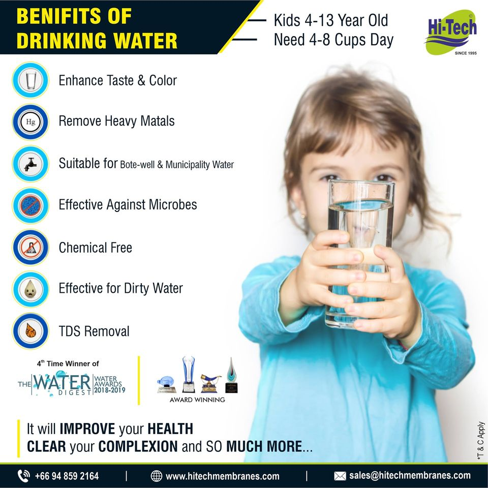 Several Benefits of Drinking RO Water