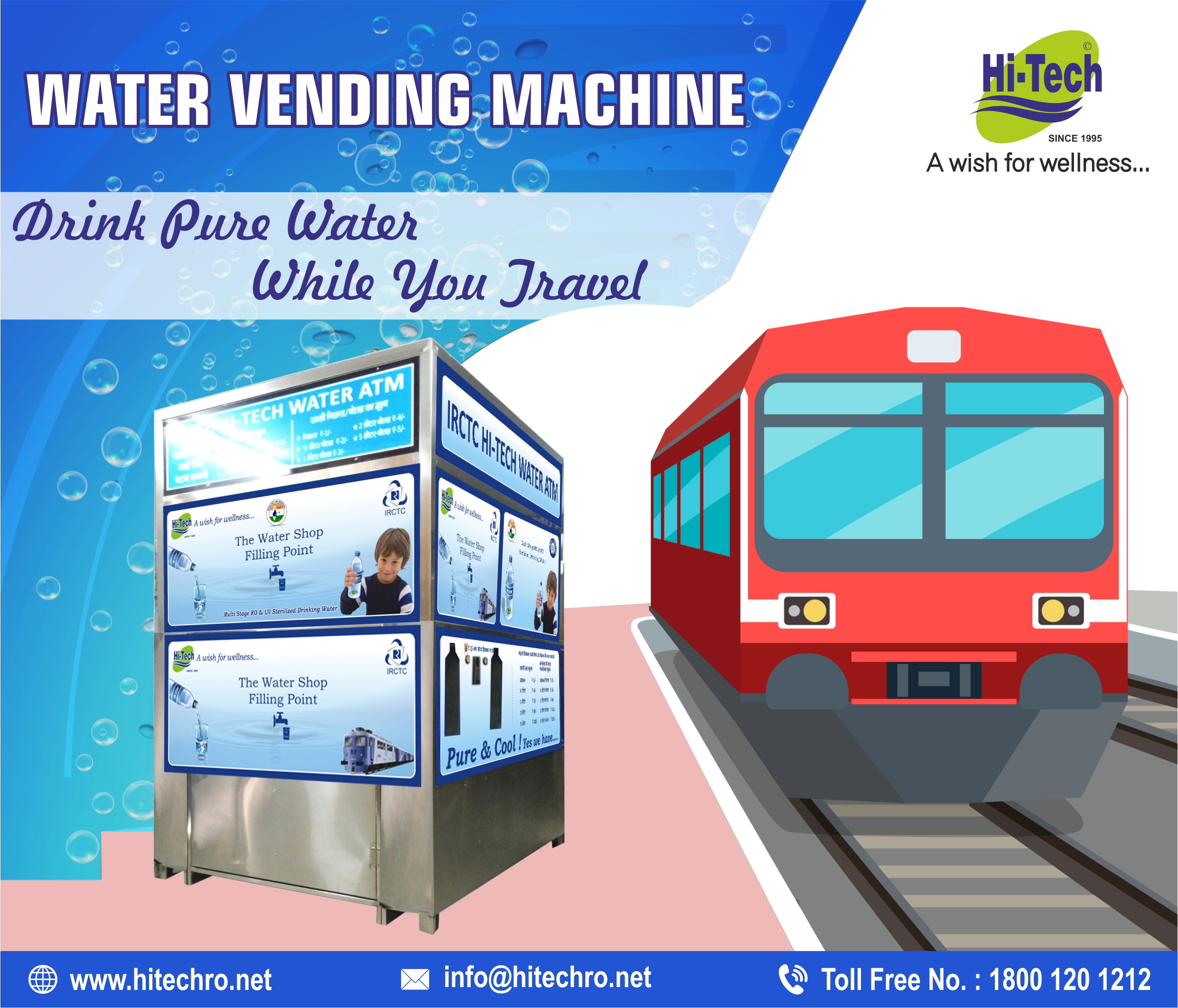 Drink Pure Water While You Travel – Water Vending Machine