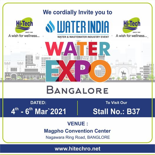 WATER INDIA WATER EXPO - 2021-Bangalore